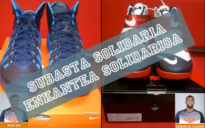 SUBASTA SOLIDARIA: Puja por las zapatillas de los Campeones del Mundo