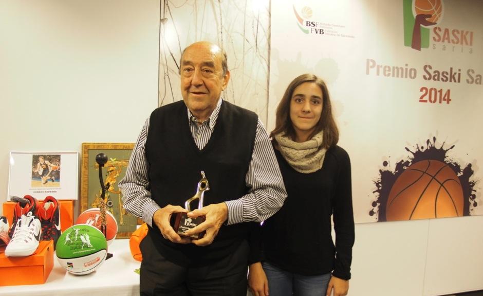 Luto por el fallecimiento de Agustín Esparta, Premio Saski Saria 2014
