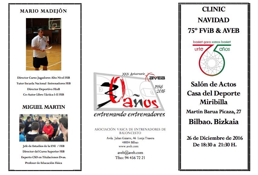 CLINIC DE NAVIDAD 75º FVIB & AVEB