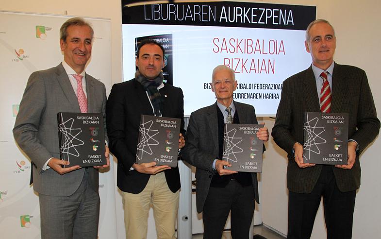 """Presentado el libro de la historia del baloncesto bizkaino: """"Basket en Bizkaia"""""""